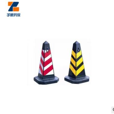 橡胶反光PVC交通安全设施路障 道路反光防撞塑料方锥雪糕桶警示柱