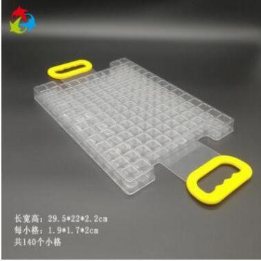 高质量定制带挂钩吸塑托盘 透明pet材质五金配件吸塑周转盘