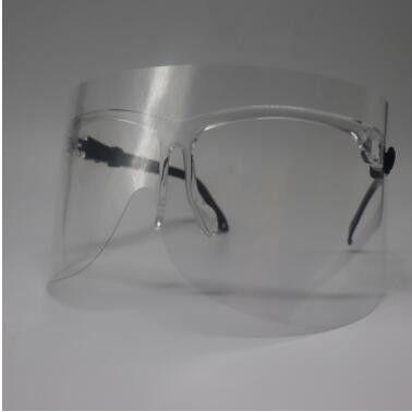 新款防雾电焊防飞沫眼镜架防护面罩塑料透明防风厨房面罩定制面罩