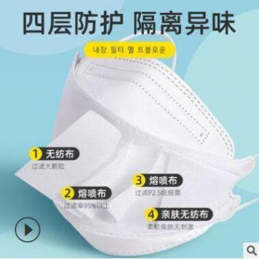 韩版KF94鱼形柳叶形face mask夏季透气时尚大人工厂直发KN95口罩