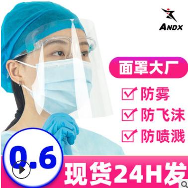 现货PET眼镜架防护面罩防雾防飞沫防飞溅防护面罩隔离面罩