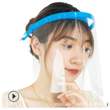 防飞溅支架面罩可上下翻转透明面罩防唾沫防疫面罩 现货