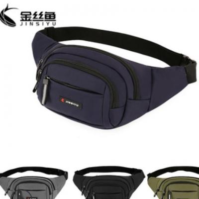 腰包定制 新款休闲男士腰包多用男士斜挎包户外运动手机腰包胸包