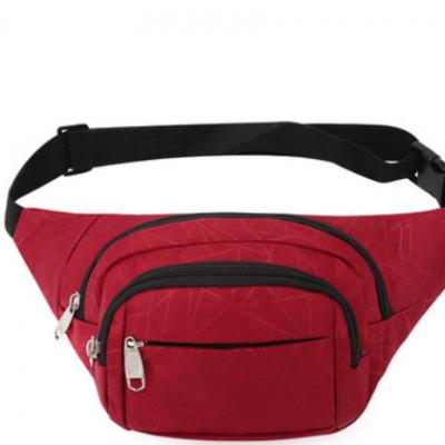 腰包定制 新款休闲男士胸包 个性条纹手机腰包 时尚潮牌运动背包