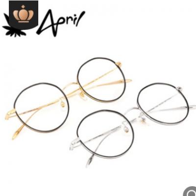 时尚金属纯钛眼镜架 复古超轻β钛眼镜框男女学生近视防蓝光眼镜