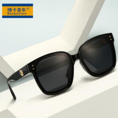 2021新款女士大框偏光太阳镜ins风潮流墨镜男女装饰镜防晒 YK3593