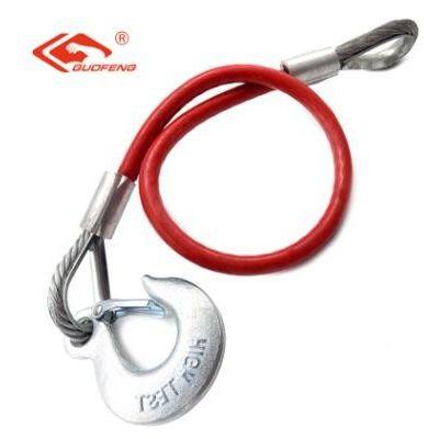厂家供应彩色调节秤钩钢索起重钢缆吊装用钢丝绳索具起重拖车绳索