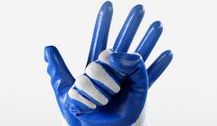 工厂好货:工作防护劳保手套,防滑耐油透气劳务劳防胶手套!