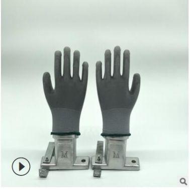 pu涂掌手套灰色防静电浸胶浸掌涂胶掌pu涂层尼龙13针涤纶防滑防护