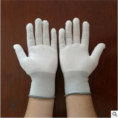 尼龙手套芯白色工作业手套胚坯电子防静电透气手套心13针涤纶劳保